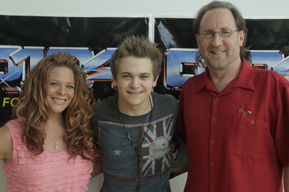 "Hunter Hayes recently stopped in Kansas City where he visited with KBEQ's TJ McEntire in promotion of his latest single ""I Want Crazy,"" which takes our No. 24 spot this week. Pictured (L-R): TJ McEntire (KBEQ), Hunter Hayes, and Mark Niederhauser (WMN)"