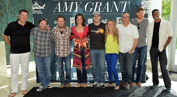 Pictured (L to R): Vince Gill, Jeremy Bose, Ben Glover, Amy Grant, Luke Laird, Molly Reed, Marshall Altman, Eric Paslay and Keb Mo (Photo by Rick Diamond/Getty Images for Amy Grant)