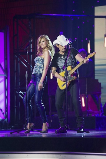"""At the CMA Awards, Rayna and Brad Paisley performed """"Bitter Memory,"""" written by Lucinda Williams."""
