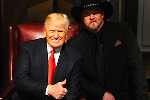 Trace Adkins and Donald Trump.