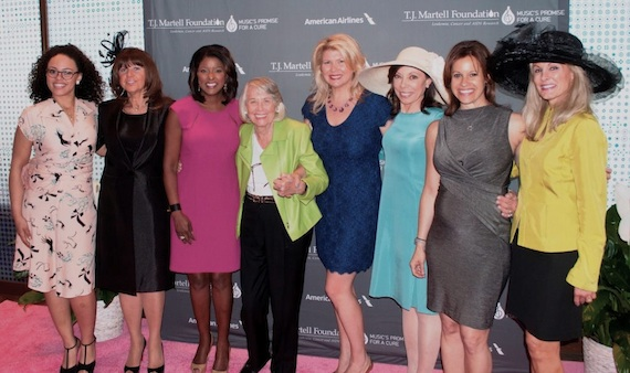 Pictured (L-R): Elle Varner, Joanne Camuti, Director American Airlines, Lori Stokes, Liz Smith, Marcie Allen, President, honoree Dr. Margaret I. Cuomo, Jenna Wolfe and Laura Heatherly.