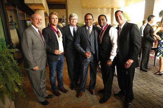 Pictured (L-R): BMI Board Member Neil Smith, BMI Christian Award Winner Jeremiah Jones, BMI's Phil Graham, Dr. Bobby Jones, BMI Christian Award Winner Earnest Pugh, and BMI's Mark Mason. Photo: John Russell.