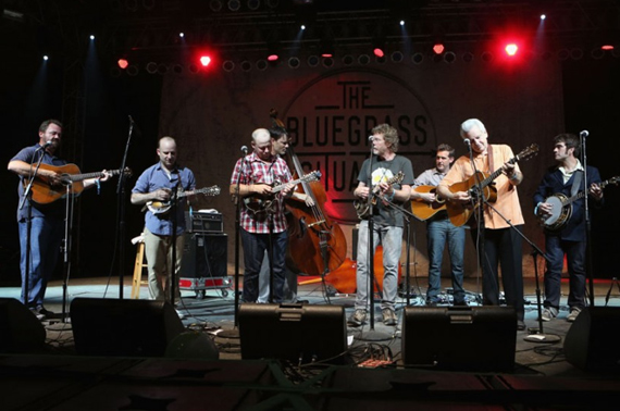 Ed Helms' Bluegrass Situation Superjam with Special Guests including Sam Bush, Del McCoury, Barry Bales, Bryan Sutton, Dan Tymenski, and Chris Stapleton, and more. Photo: FIlmMagic.