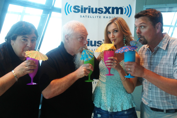 "Sarah Darling recently celebrated the world premier of her new summertime single ""Little Umbrellas"" at the Sirius XM Headquarters in Nashville. Pictured (L-R): John Alexander (Sarah's manager), John Marks (Sirius XM's Sr. Director of Country Programming), Sarah Darling, Storme Warren (host of Sirius XM's ""The Highway"")"