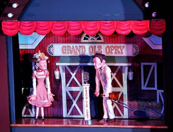 Minnie Pearl and Roy Acuff marionettes.