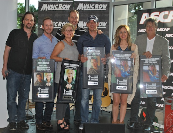 "Publishers and Songwriters of Song of the Year ""I Drive Your Truck."" Photo: Isabel Ross"