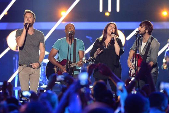Lady Antebellum and Darius Rucker. Photo: Jason Merritt