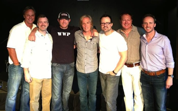 Pictured (L-R): Scott Hendricks (Warner/Chappell and THiS Music Producer), Ben Vaughn (EVP, Warner/Chappell), Ben Hayslip (Warner/Chappell and THiS Music Songwriter), Marv Green (Warner/Chappell and THiS Music Songwriter), Deric Ruttan (Warner/Chappell and THiS Music Songwriter), Tim Nichols (Warner/Chappell and THiS Music Songwriter), Rusty Gaston (GM, THiS Music).
