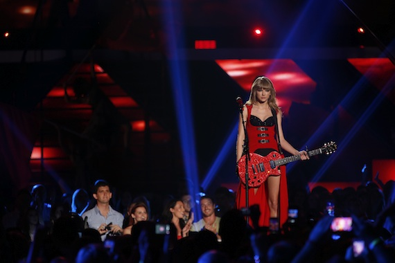 "Taylor Swift performs ""Red."""