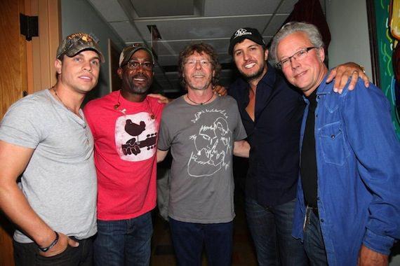 """Darius And Friends"" 2013 performers Dustin Lynch, Darius Rucker, Sam Bush, Luke Bryan and Radney Foster. Photo: Randi Radcliff"