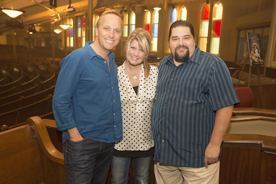 Pictured (L-R): Maximum Artist Management's Mitchell Solarek, Natalie Grant and SESAC's Tim Fink. Photo: Ed Rode.