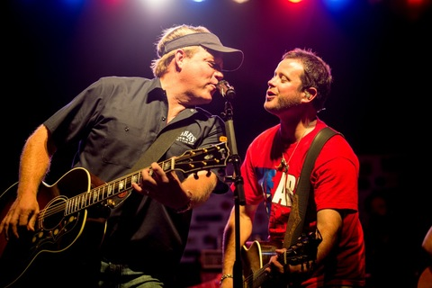 Pictured (L-R): Pat Green and Wade Bowen performing at the 15th Annual Bowen Classic Concert in Waco, TX on June 2 to benefit the rebuilding efforts of the West, Texas community. Photo: Todd Purifoy Photography