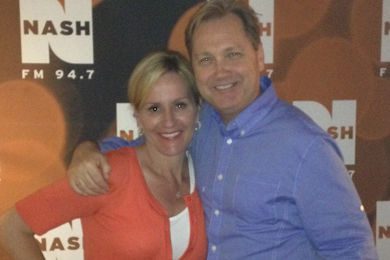 Steve Wariner recently visited NASH-FM in New York City earlier this week while in town for the CMA Songwriter Series. While there, he interviewed with radio personality Kelly Ford about his September 10 release, It Ain't All Bad. Pictured (L-R): Steve Wariner, Kelly Ford. Photo: Scott Stem