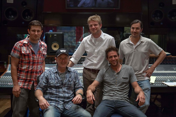 Pictured (Front row, L-R): Brett Beavers (Producer), Canaan Smith; (Back row, L-R):: Daniel Lee (BMG Chrysalis Senior Creative Director), Kos Weaver (BMG Chrysalis Executive Vice President), Luke Wooten (Producer)