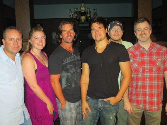 Pictured (L-R): Steve Markland (Warner/Chappell), Shea Fowler (Cornman), Brett James (Cornman) Olsen, Nate Lowery (Cornman), Ben Vaughn (Warner/Chappell)