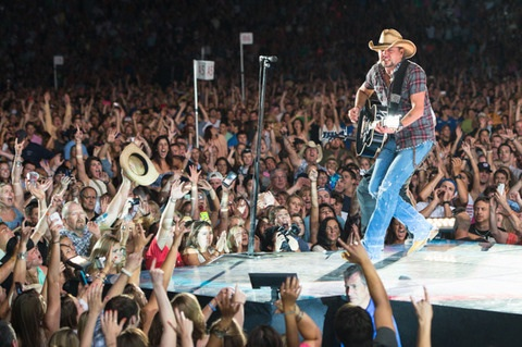 Jason Aldean at Fenway Park. Photo: Chris and Todd Owyoung