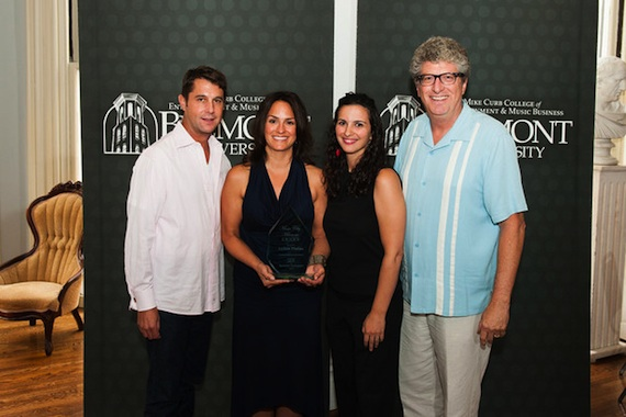 Pictured (L-R): ASCAP's Michael Martin and LeAnn Phelan, Belmont University's Sarah Cates and Dan Keen