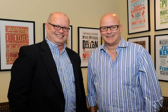 Pictured (L-R): Mark Bright (right) and museum writer/editor Michael McCall, who conducted the interview.