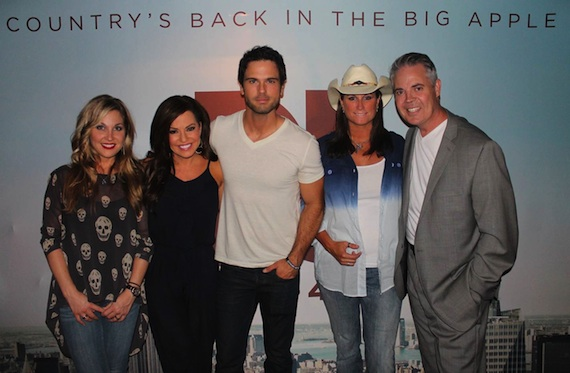 Pictured (L-R): Sunny Sweeney, Robin Meade, Chuck Wicks, Terri Clark and Blair Garner.