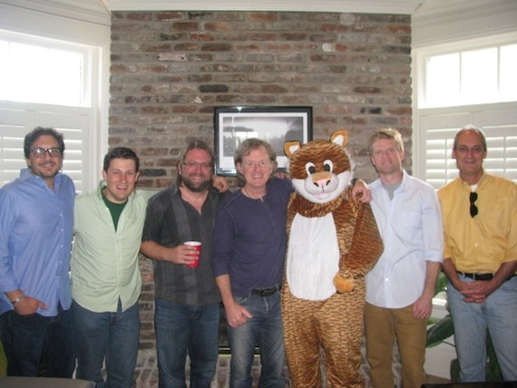 L TO R:Pete Robinson, Senior Vice President, Big Deal Music;Daniel Lee, Senior Creative Director, BMG Chrysalis Music;Chip Petree, Attorney, Petree Law;Brett Beavers;Kenny MacPherson, President, Big Deal Music;Kos Weaver, Executive Vice President, BMG Chrysalis Music;Dale Bobo, Senior Vice President, Big Deal Music.