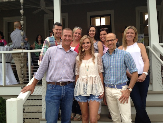 Sarah Darling poses with Southern Living's editorial staff. Pictured (Back row, L-R): Ron King, Associate Publisher, Katie Morrow, Editorial Licensing, Caroline McKenzie, Associate Editor, Carmen Johnston, Gardening Expert, Southern Living Plant Collection, Evelyn Webster, Exec. VP, Time, Inc. Lifestyle Group. Front row, L-R: Greg Schumann, Publisher, Sarah Darling, Lindsay Bierman, Editor-In-Chief