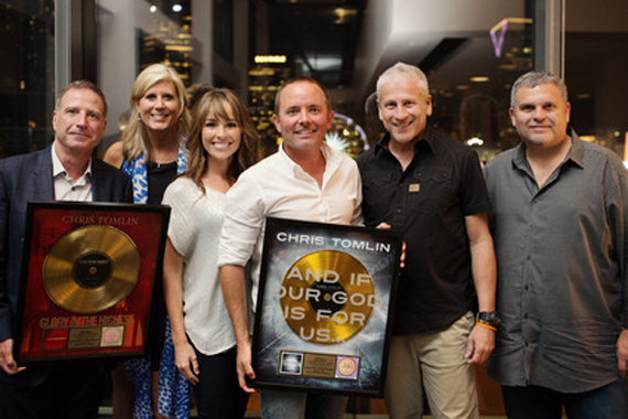 Pictured (L to R): Capitol CMG's Bill Hearn, sixstepsrecords' Shelley Giglio, Lauren Tomlin, Chris Tomlin, Louie Giglio and Capitol CMG's Peter York. Photo: Mary Caroline Mann