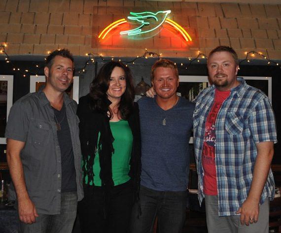 (l-r): Trevor Rosen, Brandy Clark, Shane McAnally and Josh Osborne. Photo by ASCAP's Alison Toczylowski