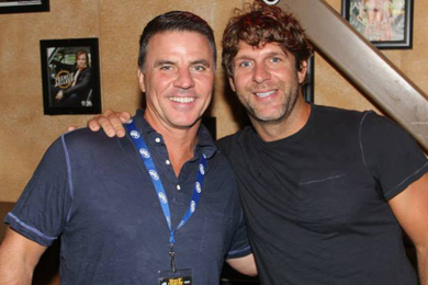 Billy Currington (R) was in Kansas City recently visiting with Mike Kennedy (L) during Q104's Hot Country Nights. The Mercury Nashville singer's new album We Are Tonight comes out September 17.