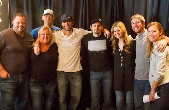Pictured (L-R): Clear Channel SVP Programming Rod Phillips, WSIX OM/PD Michael Bryan, Premiere Radio Sr Natl Director of Music Initiatives Robin Rhodes, Bobby Bones, Paisley, The Bobby Bone Show's Amy and Lunchbox, and Arista Nashville VP Promotion Lesly Tyson.