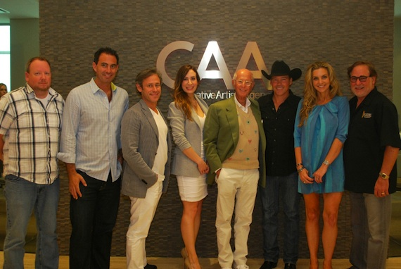 Pictured (L-R): CAA's Jeff Hill, CAK - Jason Boyarski, CAK - David Fritz, CAK - Stephanie Roberts, CAK - Charles Koppelman, Clay Walker, Upward management Liesl Haynie, CAA's Rod Essig
