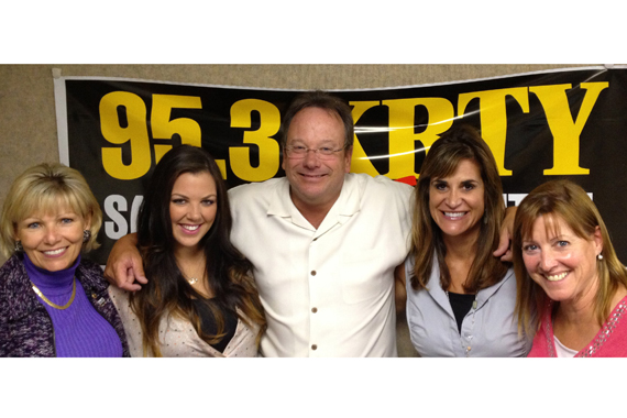 "Show Dog Universal's Krystal Keith continued her radio tour with KRTY in support of the new single ""Get Your Redneck On."" Pictured (L-R): Keith, Tina Ferguson (KRTY GSM), Nate Deaton (GM), Lisa Owen (SDU) and Julie Stevens (PD)"
