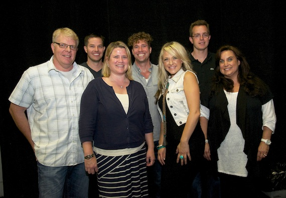 L to R: Lane Wilson, Doug Neff, Abby Baas, Rush Davenport, Columbia Nashville's Leah Turner, Barrett Sellers, Risha Rodgers