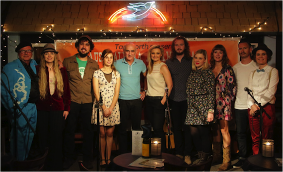 L to R: Dobe Newton (Sounds Australia), Anne McCue, Cameron Milford, Gena Rose Bruce, Paul Kelly, Tamara Stewart, Michael Muchow, Melody Feder, and Tracey Bunn