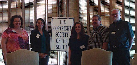 Pictured (L-R): Jill Napier, Tasha Blumenberg (recipient), Amanda Waltz (recipient) and board members Bob Mather and Dan Ekback. Photo credit: Janice Jackson.