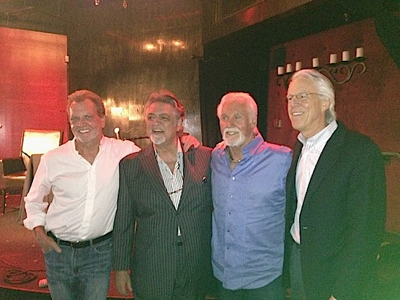 Pictured (L-R): Gerry House, Leadership Music Founding Council member Joe Moscheo, Kenny Rogers and Leadership Music Founding Council member Jim Ed Norman.