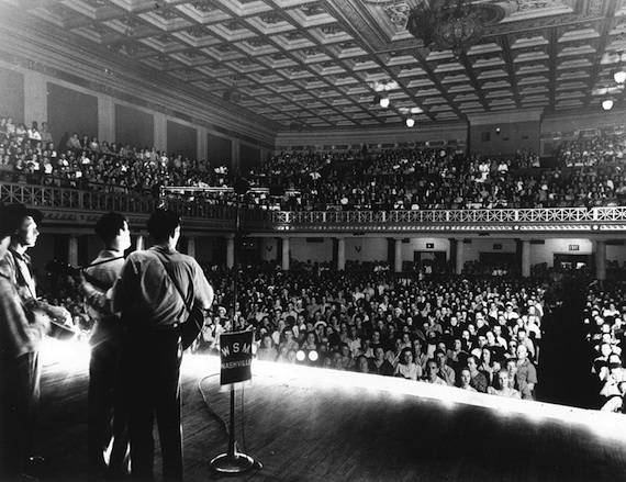 Nashville's War Memorial Auditorium has rocked audiences for years, bringing performances by legendary music artists from Ray Charles, Roy Acuff and Elvis Costello to Hollywood starlets and presidential candidates Richard Nixon, Lyndon Johnson and John F. Kennedy, who gave speeches on the courtyard steps.