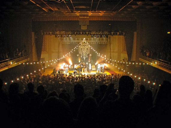 Pictured above, Mumford & Sons perform to a packed house at WMA.