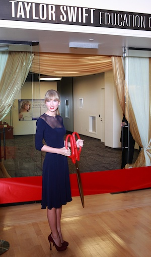 Taylor Swift at the ribbon cutting at the Country Music Hall of Fame. Photo: Royce DeGrie, Getty Images.