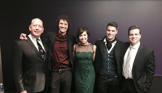 Pictured (L-R): John Esposito (President & CEO, Warner Music Nashville), Luke Smallbone (for KING & COUNTRY), Francesca Battistelli, Joel Smallbone (for KING & COUNTRY) and Rod Riley (President & CEO, Word Entertainment)