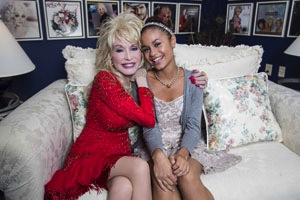 Dolly Parton and Desiree Ross