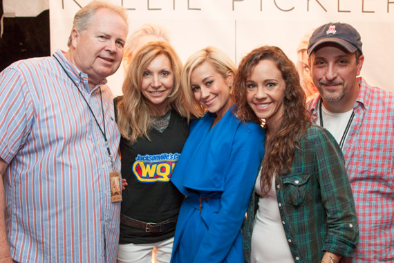 Kellie Pickler took time for a photo while signing her new album for fans after her performance at St. John's Town Center in Jacksonville, FL on Saturday, Nov. 16. Pictured (L-R): Black River's Mike Wilson, WQIK's Cindy Spicer, Kellie Pickler, Black River's Megan Boardman & Greg McCarn