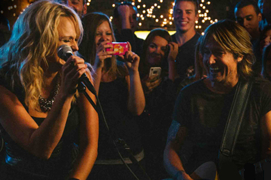 Miranda Lambert and Keith Urban.