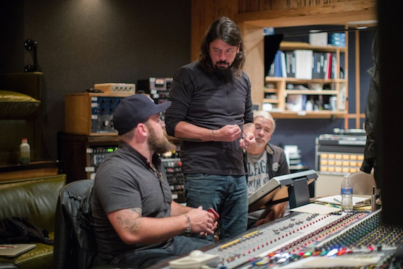Zac Brown and Dave Grohl in the studio. Photo: Southern Reel