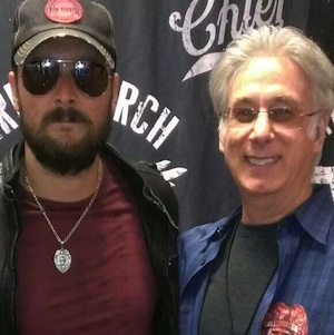 Eric Church and Charlie Cook. Photo: Charlie Cook
