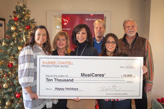 2013-12-12 WCPM MusiCares Donation