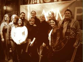 Front row: Kim McCollum (Membership chair), Cheryl Martin (5/3 Bank), Denise Nichols (Secretary), Marc Driskill (Executive Director), Cassidy Lynn (singer/songwriter). Back row: Heather Cook (Administrative Director), Tim Fink (Board Member), Craig Currier (Board Member), Randy Wachtler (Board Member), and David Preston (Board Member).