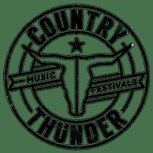 country thunder black transparent circle logo artwork111