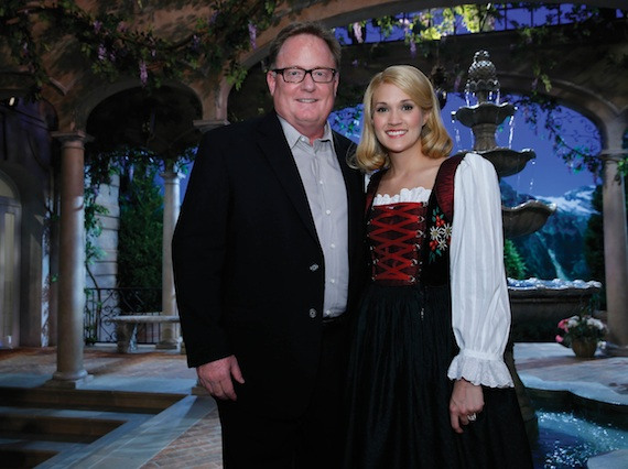Pictured (L-R): Gary Overton, Chairman & CEO, Sony Music Nashville; and Underwood.