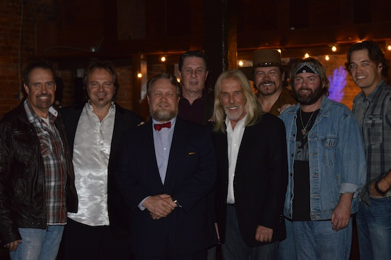 Pictured (L-R): Billy Yates (Hit Songwriter), Mark Dreyer, Barry Neil Shrum (STMA Board Member, Educator and Attorney), Bart Herbison, Craig Kampf (Secretary/Treasurer of Nashville Musicians Association),Buddy Jewell (Singer/Songwriter), Andy Griggs (Singer/Songwriter), Lucas Hoge (Singer/Songwriter). Photo Credit: SoCo Media & Design