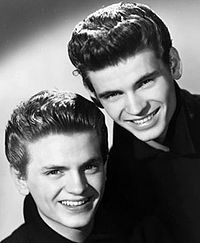 The Everly Brothers (L: Phil, R: Don)